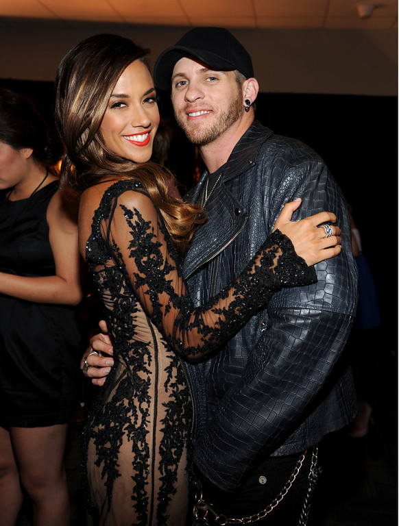 . Jana Kramer, left, and Brantley Gilbert pose backstage at the 2013 CMT Music Awards at Bridgestone Arena on Wednesday, June 5, 2013, in Nashville, Tenn. (Photo by Frank Micelotta/Invision/AP)