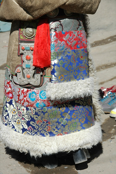 Colorful Tibetan Coat - Xiahe, China