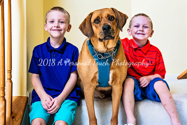 Amy Jeff and boys 2018