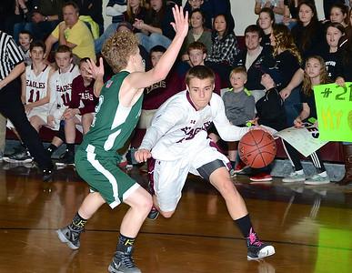 2016 AMHS Boys Basketball Quarterfinal vs Danville photos by Gary Baker