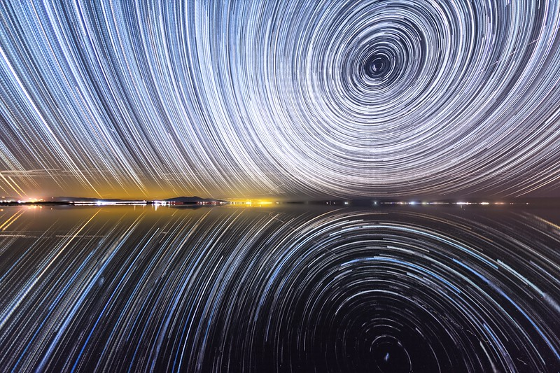 Some Stunning South Shore Salton Sea Starry Sky Star Trails