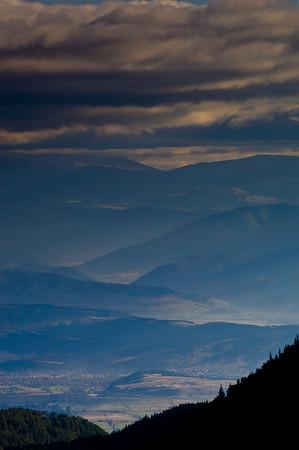 Mountain view through Razlozhka Valley, The Pirin Mountains, Bul
