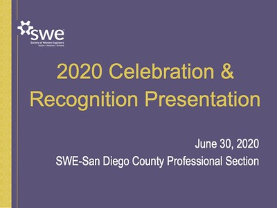 FY20 SWE-SD Annual Celebration Presentation