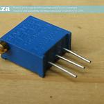 SKU: AEC-AP/3296/X202, Adjustable Potentiometer 3296-X202, Side Adjust Through Hole Trimmer Resistor for Laser Power Supply