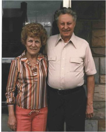 Mom and Dad on Front Porch