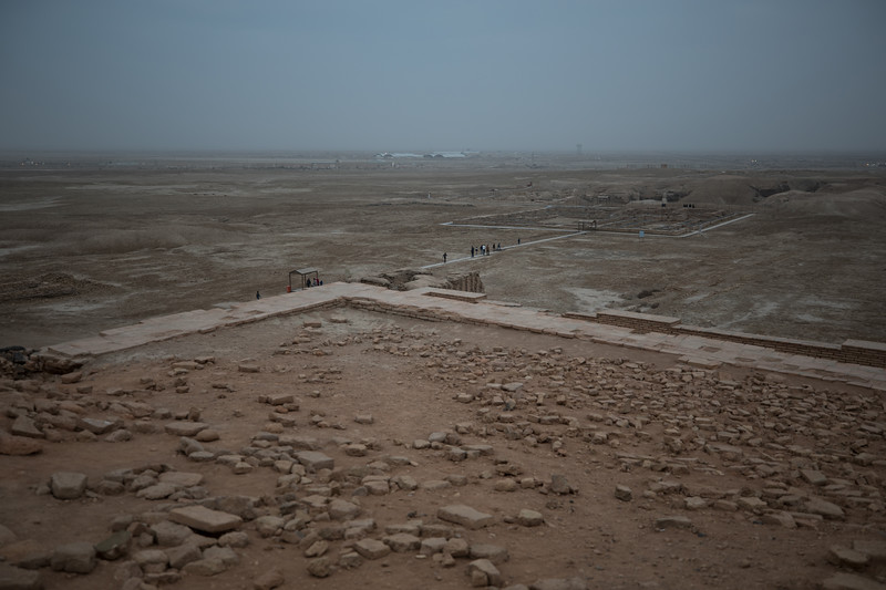 Looking south to the ruins of Ur, believed to be the birthplace of Abraham, and to Ali Air Base in the distance.