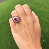 3.27ctw Burma No-heat Ruby Cluster Ring, GIA cert 13