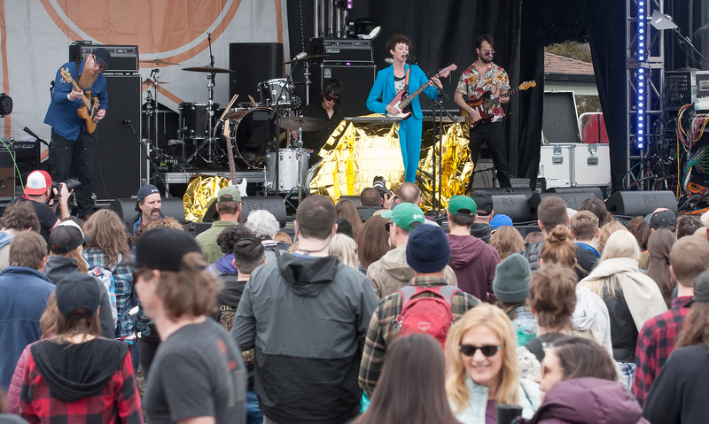 Esme Patterson performing on the main stage at Treefort, Boise, Idaho.