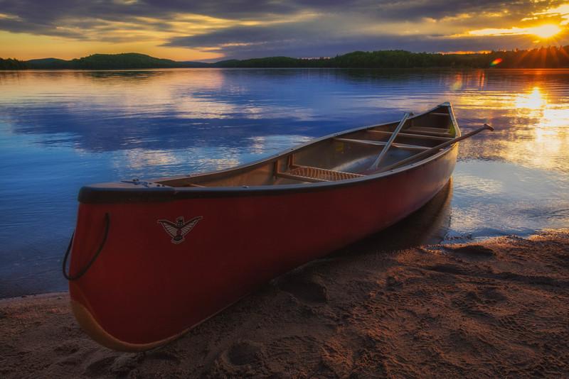 Canoe in Algonquin Park