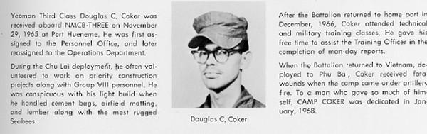 Douglas Coker...30Aug67...NMCB-3