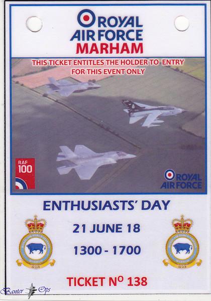 RAF Marham - Thursday 21st June 2018 (Enthusiasts Day)
