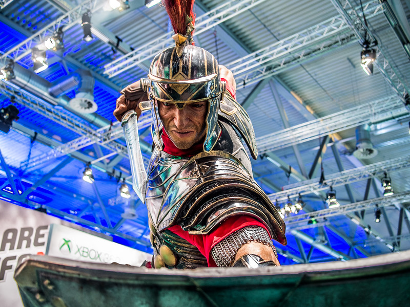 Ryse: Son of Rome statue at Gamescom 2013