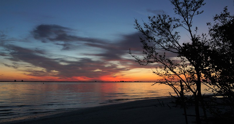 Serene Sanibel Sunrise - Original - Framed Metal $525
