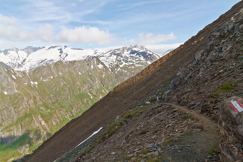 Hier het pad richting Johannishütte dat we nu moeten volgen.