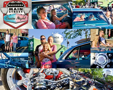 Cruise Night Car Collages