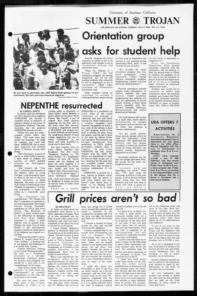 Summer Trojan, Vol. 60, No. 6, July 08, 1969