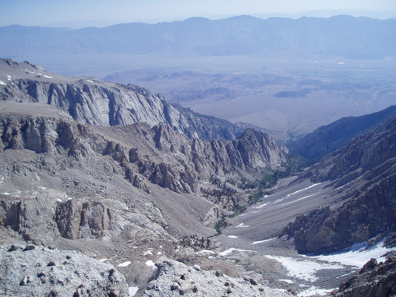 Tuttle Creek drainage. Alabama Hills and Inyo mountains in the background