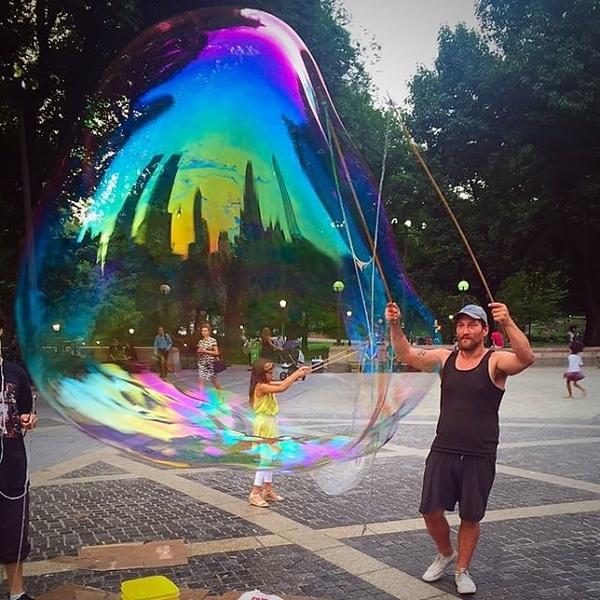 New York City bubble magic. No place like it. #NYC #bubbles #centralpark