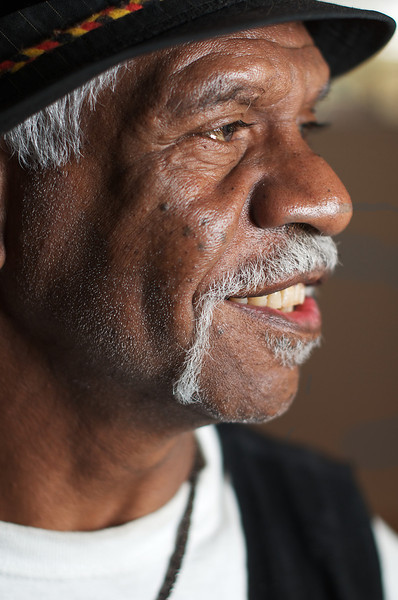 Wurrundjeri Elder in Profile, smiling