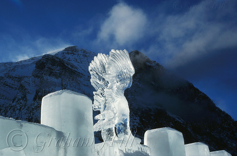 Ice Sculpture, Lake Louise, Canada