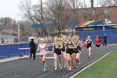 3000 Meters Women - 2013 Oakland vs Detroit Track Meet
