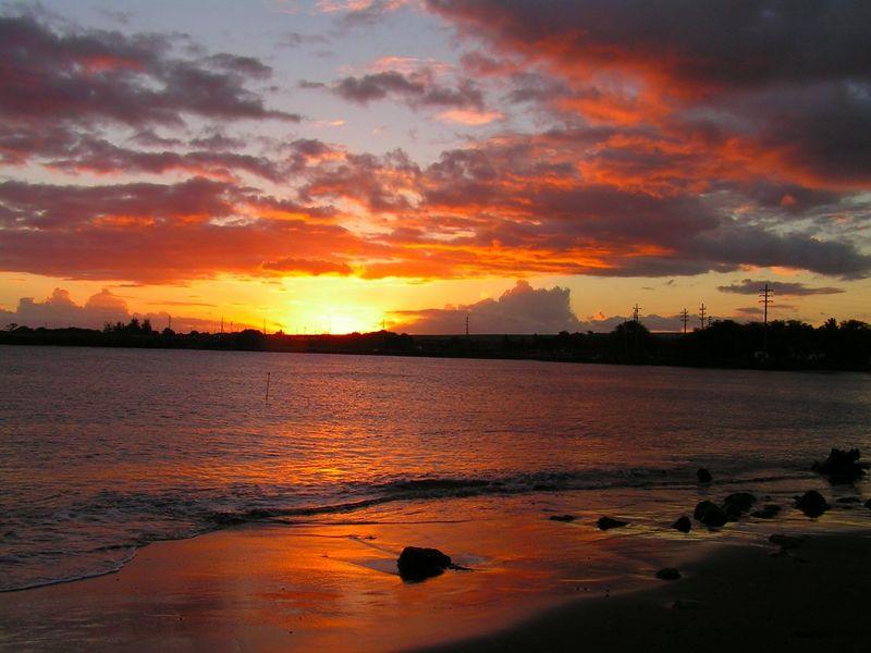 PICT3411s, sunset at Port Allen Park, aug 20, 2005a.JPG