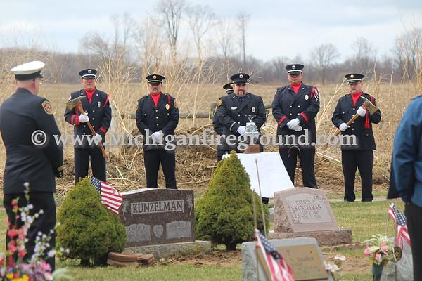 3/28/21 - Unadilla Twp retired Fire Chief Mark Schroeder Memorial