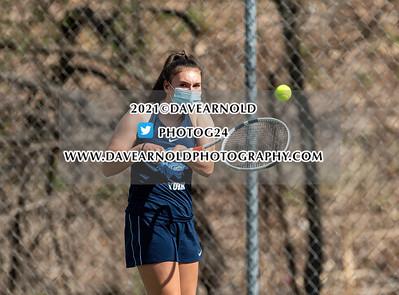 4/27/2021 - Girls Varsity Tennis - York vs Berwick