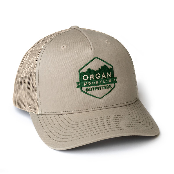Organ Mountain Outfitters - Outdoor Apparel - Hat - Snapback Trucker Cap - Khaki Forest Green.jpg