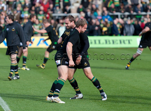 Northampton Saints vs Newcastle Falcons, Aviva Premiership, Franklin's Gardens, 30 October 2010