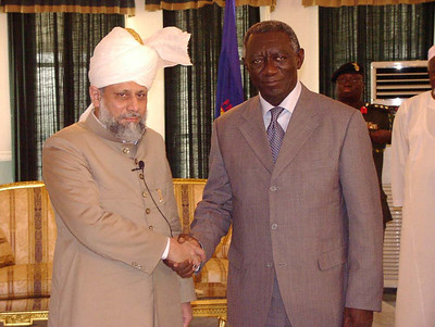 Hazrat Khalifatul Masih V (aba) meets with the President of Ghana