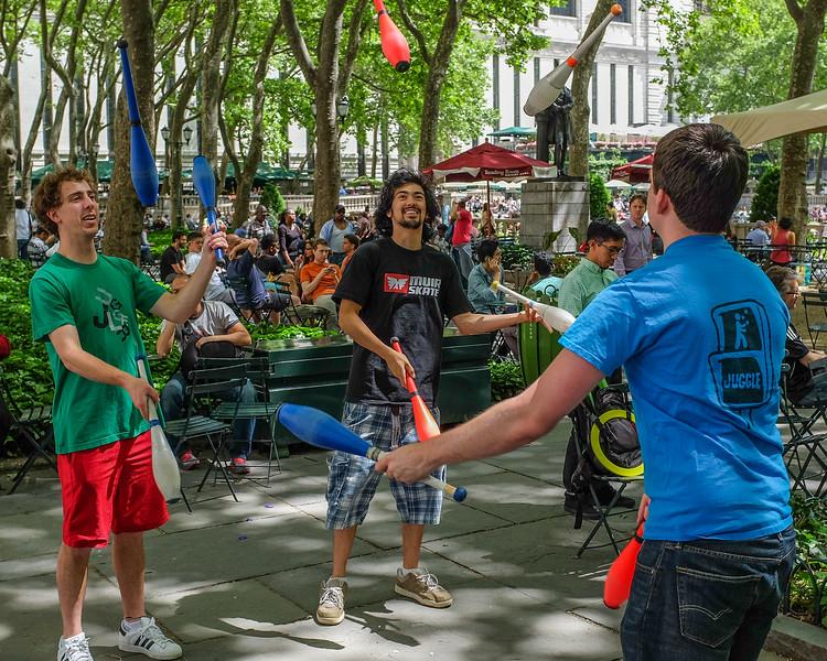 Juggle, Bryant Park, NYC