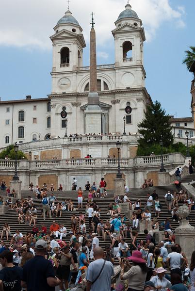Spanish steps, Trinitá dei Monti church