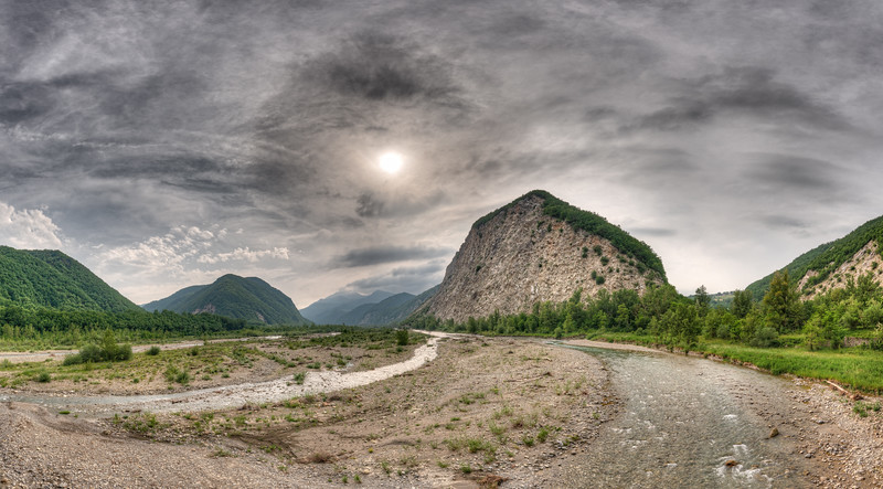 Secchia River - Castelnovo ne' Monti, Reggio Emilia, Italy - June 9, 2019
