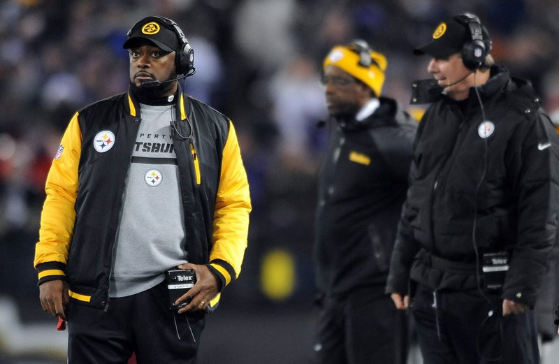 """. <p>7. (tie) MIKE TOMLIN <p>Too-clever-by-half Steelers coach must think everyone is as stupid as Pittsburgh fans. (unranked) <p><b><a href=\'http://nfl.si.com/2013/12/01/mike-tomlin-interference-fine-draft-pick/\' target=\""""_blank\""""> HUH?</a></b> <p>    (AP Photo/Gail Burton)"""