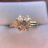 Spilt Prong Yellow Gold Solitaire Mounting, by Stuller 18