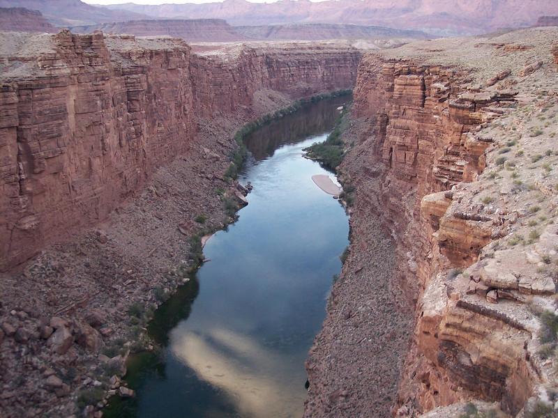 Looking into the canyon at Navajo Bridge.