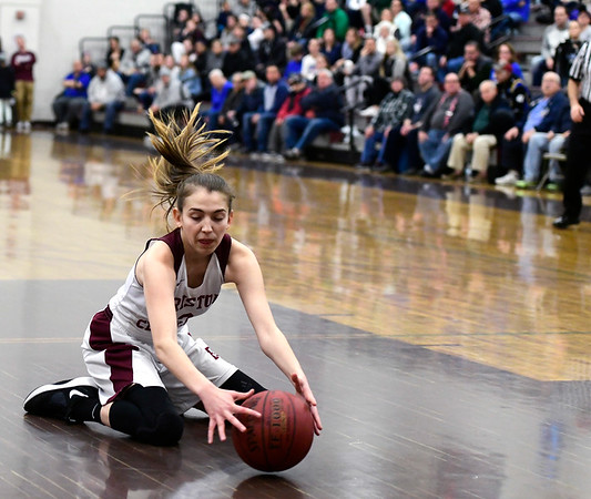 1/17/2019 Mike Orazzi | Staff Bristol Central's Allison Jessie (2) during Thursday night's girls basketball game with Bristol Eastern at BC.