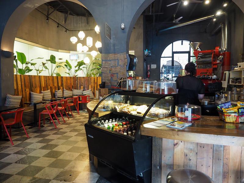 Cuatro Sombras coffee shop in Old San Juan