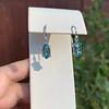 4.20ctw Blue Zircon Dangle Earrings 4