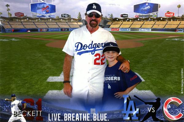 Jackson & Dad Dodgers Cubs