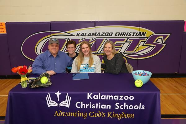 Softball Signing Jayme Koning KCHS 2/19/19