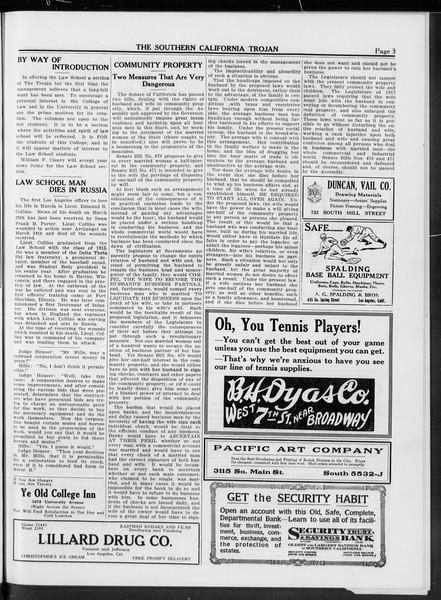 The Southern California Trojan, Vol. 10, No. 15, April 18, 1919
