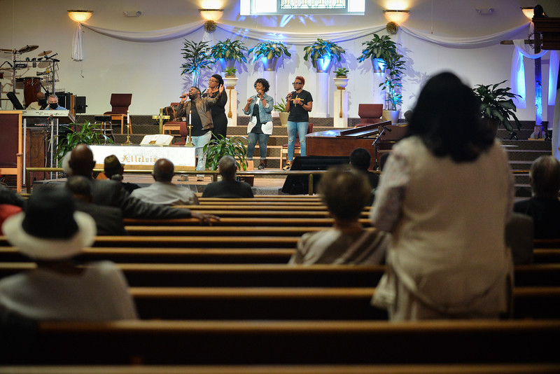 St. James United Methodist service, April 25, 2021.