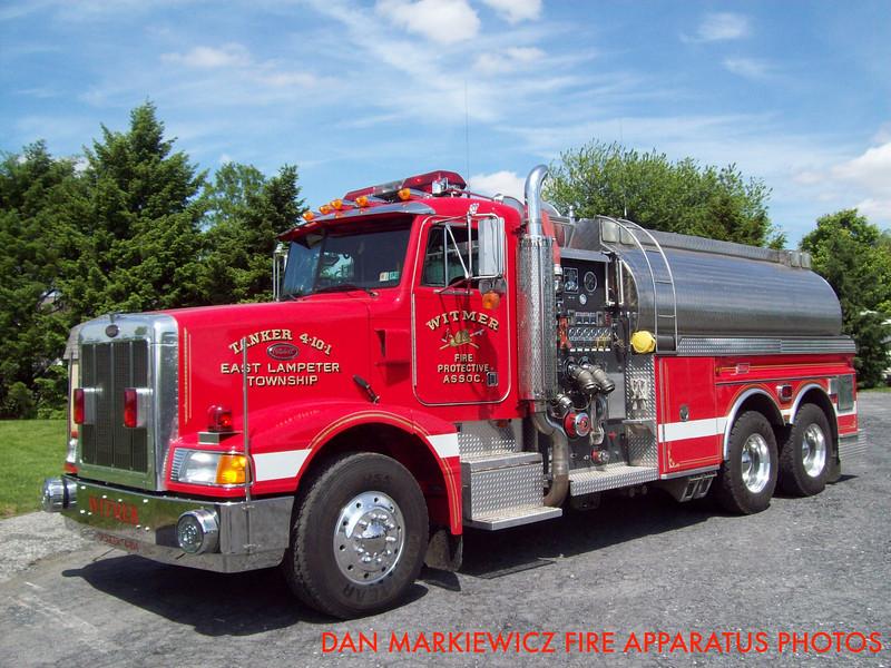 WITMER FIRE PROTECTIVE ASSN. TANKER 4-10-1 1994 PETERBILT/NEW LEXINGTON TANKER