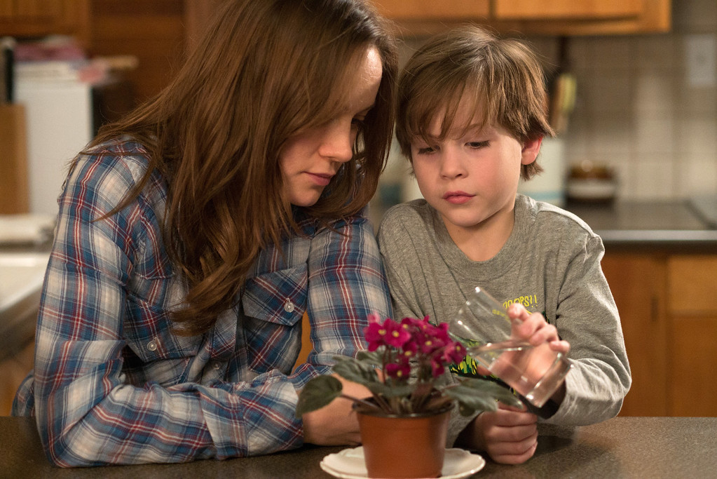 """. In this image released by A24 Films,  Brie Larson, left, and Jacob Tremblay appear in a scene from the film, \""""Room.\"""" Larson was nominated for an Oscar for best actress on Thursday, Jan. 14, 2016, for her role in the film. The 88th annual Academy Awards will take place on Sunday, Feb. 28,, at the Dolby Theatre in Los Angeles.  (A24 Films via AP)"""