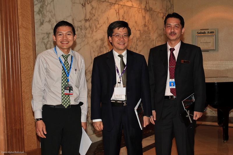 Dato' Chang Kian Meng, Dr Ng Soo Chin and Datuk Noor Hisham