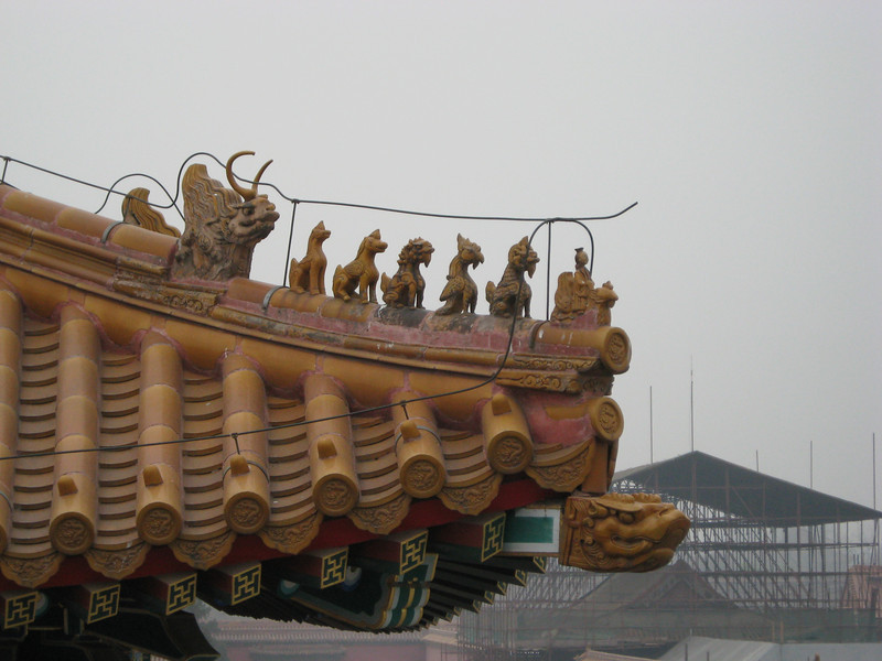 Roofline detail - the dragon and his children.