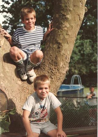 Brian and Sean Tree 1989