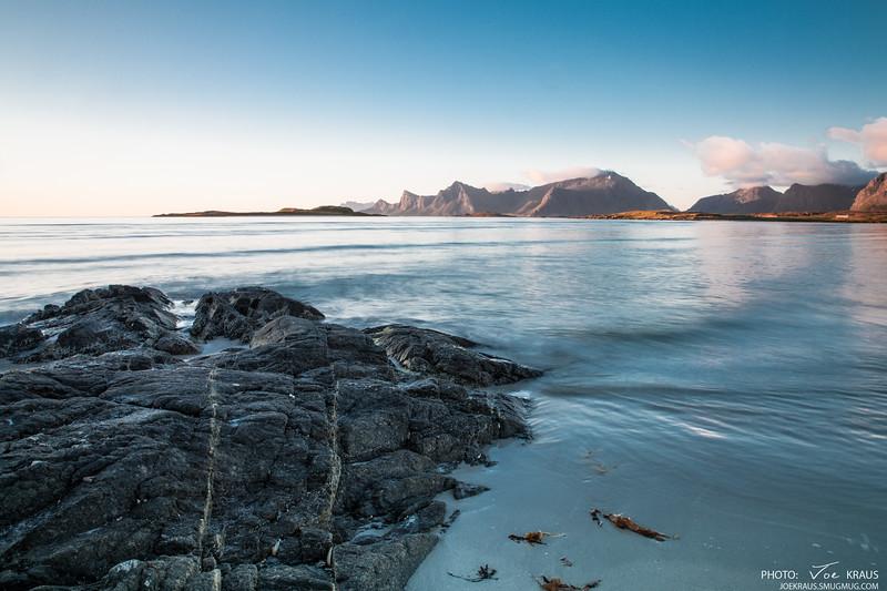 Midnight Sun, Water & Rocks